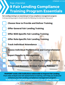 fair-lending-compliance-training-checklist