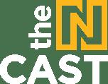Ncast logo yellow white