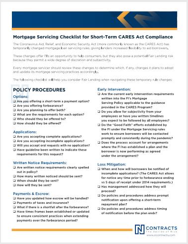 202004 - Mortgage Servicing Checklist