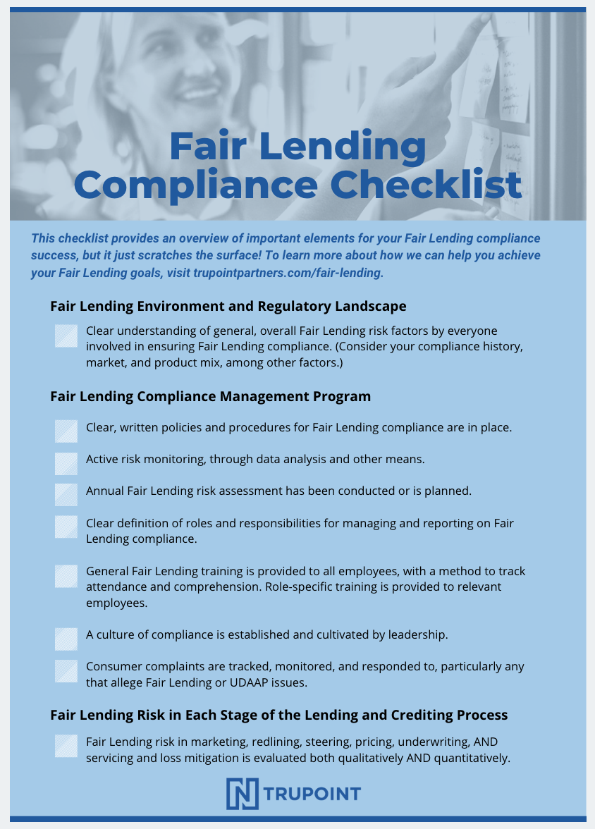 Fair-Lending-Compliance-Checklist
