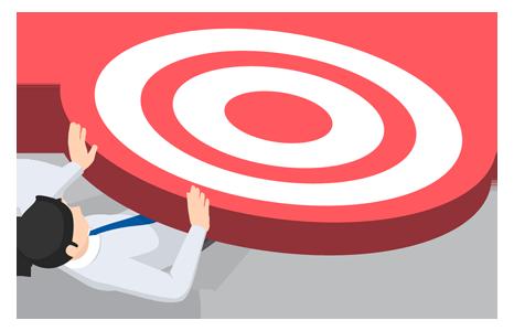 man under target